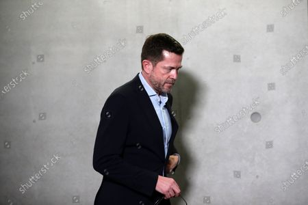 Former German Economics and Technology Minister Karl-Theodor zu Guttenberg leaves after testifying at the German parliamentary committee in Berlin, Germany, 17 December 2020. German Finance Committee is dealing with the scandal related to the market manipulation of service provider Wirecard.