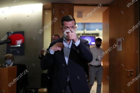 Former German Economics and Technology Minister Karl-Theodor zu Guttenberg after testifying at the German parliamentary committee in Berlin, Germany, 17 December 2020. German Finance Committee is dealing with the scandal related to the market manipulation of service provider Wirecard.