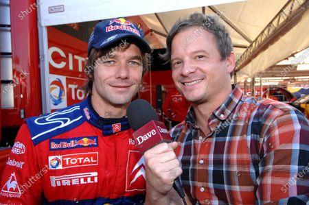 Sebastien Loeb (FRA) Citroen and Neil Cole (GBR) from 'Dave'. FIA World Rally Championship, Rd 12, Rally Catalunya Shakedown, Salou, Spain, 2 - 5 October 2008.