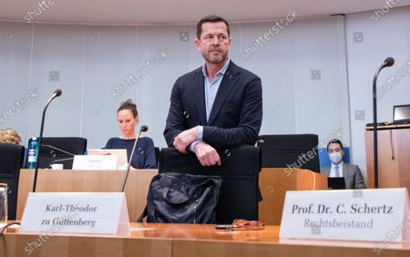 Former German Economics and Technology Minister Karl-Theodor zu Guttenberg arrives to testify before a meeting of the 3rd Wirecard investigation committee at Paul-Loebe-Haus in Berlin, 17 December 2020. The committee is dealing with the scandal related to the market manipulation of service provider Wirecard.