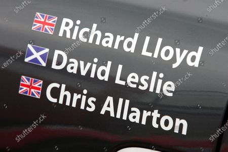 The APEX Motorsport team paid tribute on the side of the car to team owner Richard Lloyd (GBR), driver David Leslie (GBR) and engineer Chris Allarton (GBR), killed in a plane crash two weeks ago. FIA GT3 European Championship, Rd1, Silverstone, England, 18-20 April 2008.