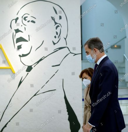 Editorial picture of King Felipe VI opens an exhibition to mark politician and writer Manuel Azana, Madrid, Spain - 17 Dec 2020
