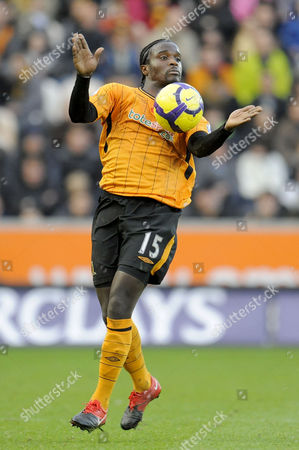 Bernard Mendy of Hull City controls the ball on his chest