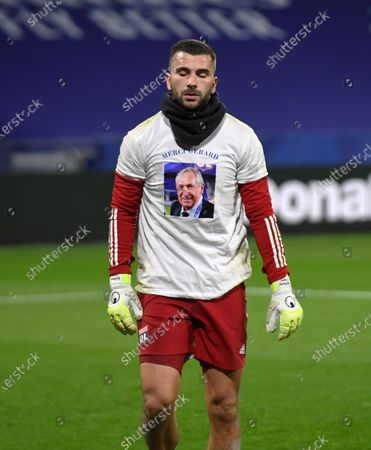 Lyon's Portuguese goalkeeper Anthony Lopes Tribute to late OL ex coach Gerard Houllier