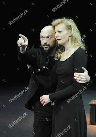 'Macbeth' - Will Keen (Macbeth) and Anastasia Hille (Lady Macbeth)