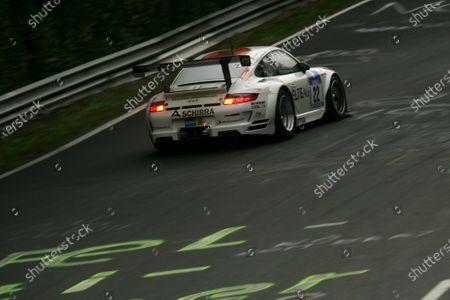 Richard Westbrook (GBR) / Emmanuel Collard (FRA) / Frank Stippler (GER) / Marino Franchitti (GBR) HISAQ Competition Porsche 997 GT3-RSR. Nurburgring 24 Hours, Nurburgring, Germany, 24-25 May 2008.
