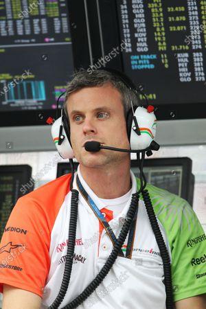 Dominic Harlow (GBR) Force India F1 Chief Race Engineer.  Formula One World Championship, Rd 18, Brazilian Grand Prix, Qualifying Day, Interlagos, Sao Paulo, Brazil, Saturday 6 November 2010.