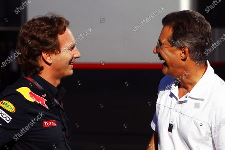 (L to R): Christian Horner (GBR) Red Bull Racing Team Principal with Dr Mario Theissen (GER) BMW. Formula One World Championship, Rd 14, Italian Grand Prix, Practice Day, Monza, Italy, Friday 10 September 2010.
