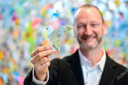 Editorial picture of Engie Origami Art, Brussels, Belgium - 17 Dec 2020