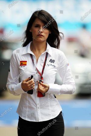 Marion Jolles (FRA) TF1 TV Presenter. Formula One World Championship, Rd 5, Spanish Grand Prix, Qualifying Day, Barcelona, Spain, Saturday 8 May 2010.