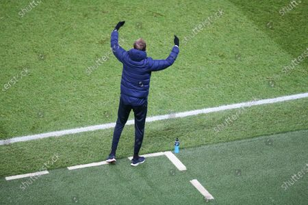 PSG's German head coach Thomas Tuchel gestures