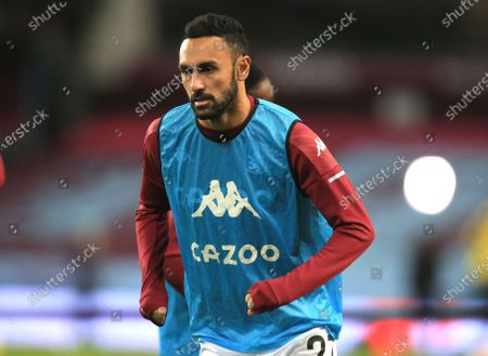 Aston Villa's Ahmed Elmohamady during the warm up before the English Premier League soccer match between Aston Villa and Burnley at Villa Park stadium in Birmingham, England
