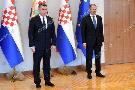 The President of the Republic Zoran Milanovic received the Minister of Foreign Affairs of the Russian Federation Sergey Lavrov.