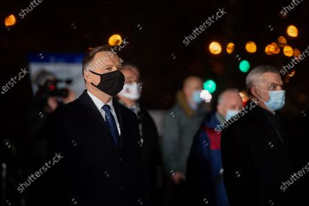 President of Poland Andrzej Duda seen during the anniversary of December 1970 in Gdynia.December 1970 celebrations in Gdynia commemorate the workers fighting against the communist authorities. As a result of the riots in Gdynia on December 17 1970, 10 people were killed.