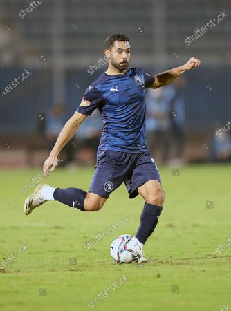 Stock Image of Pyramids  player Ahmed Fathi  in action during the Egyptian Premier League soccer match Pyramids vs Zamalek in Cairo, Egypt, 17 December 2020.