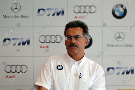 Dr. Mario Theissen (GER) BMW Motorsport Director at a press conference where it was confirmed that BMW would enter the DTM from 2012. DTM, Rd9, Hockenheim, Germany, 15-17 October 2010.