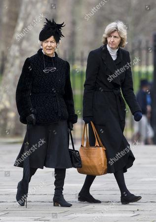 Deborah Vivien Cavendish, Dowager Duchess of Devonshire (left) and guest