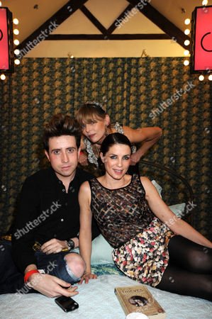 Nick Grimshaw, Jemima French and Sadie Frost