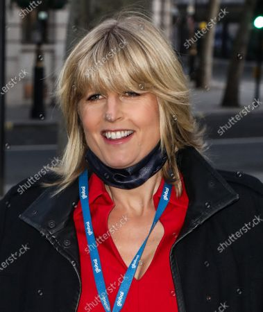 Rachel Johnson seen arriving at the Global Radio Studios