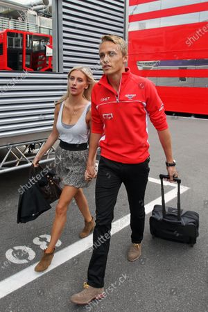 Max Chilton (GBR) Marussia F1 Team with his girlfriend Chloe Roberts (GBR). Formula One World Championship, Rd12, Italian Grand Prix, Race, Monza, Italy, Sunday 8 September 2013.