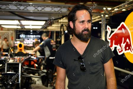 """Ronald """"Ronnie"""" Vannucci jr. (USA) Drummer of rock band the Killers in the Red Bull Racing garage. Formula One World Championship, Rd13, Singapore Grand Prix, Qualifying, Marina Bay Street Circuit, Singapore, Saturday 21 September 2013."""