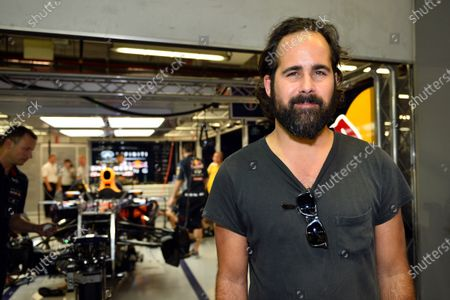 """Stock Photo of Ronald """"Ronnie"""" Vannucci jr. (USA) Drummer of rock band The Killers in the Red Bull Racing garage. Formula One World Championship, Rd13, Singapore Grand Prix, Qualifying, Marina Bay Street Circuit, Singapore, Saturday 21 September 2013."""