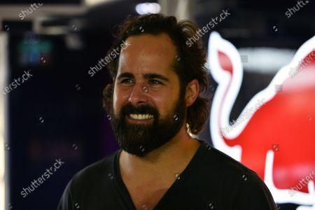 """Stock Picture of Ronald """"Ronnie"""" Vannucci jr. (USA) Drummer of rock band The Killers in the Red Bull Racing garage. Formula One World Championship, Rd13, Singapore Grand Prix, Qualifying, Marina Bay Street Circuit, Singapore, Saturday 21 September 2013. BEST IMAGE"""
