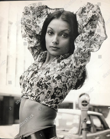 Shakira Caine Wife Of Actor Michael Caine Seen Here In Her Modelling Days When She Was Shakira Baksh Aged 24
