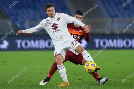 Karol Linetty of Torino, Gianluca Mancini of Roma
