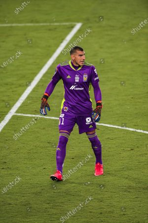 Goalkeeper Nahuel Guzman of Tigres UANL (MEX) during their CONCACAF Champions League Quarter Finals match against New York City FC (USA) at the Orlando's Exploria Stadium on 15 December 2020, in Florida, United States. Photo by Victor Fraile / Power Sport Images