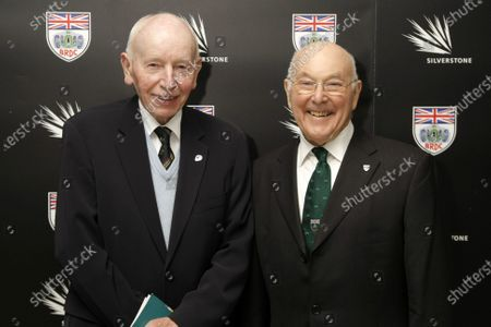 L-R: John Surtees (GBR) with Murray Walker (GBR). BRDC Annual Awards 2012, Grand Connaught Rooms, London, England, 3 December 2012.