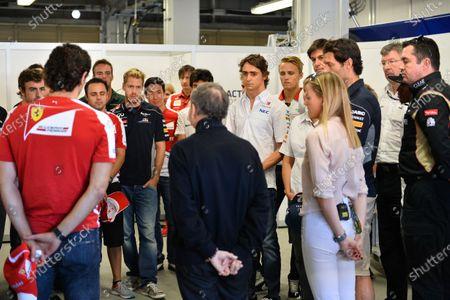 The drivers observe a minutes silence for Maria De Villota (ESP). Formula One World Championship, Rd15, Japanese Grand Prix, Race Day, Suzuka, Japan, Sunday 13 October 2013. BEST IMAGE