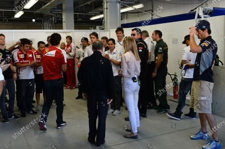 The drivers observe a minutes silence for Maria De Villota (ESP). Formula One World Championship, Rd15, Japanese Grand Prix, Race Day, Suzuka, Japan, Sunday 13 October 2013.