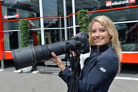 Sarah Winkhaus (GER) Sky TV with Sutton Images Nikon D4 Camera. Formula One World Championship, Rd5, Spanish Grand Prix, Practice, Barcelona, Spain, Friday 10 May 2013.