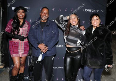 Stock Image of Karen Civil, Producer/Director Deon Taylor, Monica 'Doll Phace' Floyd and Producer Roxanne Avent