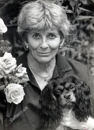 Elizabeth Jane Howard Author With Her Pet Dog Darcy.
