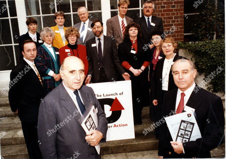 Stock Picture of Disaster Action Has Been Formed By The Survivors And Bereaved From Zeebrugge Marchioness Kings Cross Piper Alpha Clapham Jupiter Manchester Lockerbie Hillborough Aberfan M.v. Derbyshire Towyn Enniskillen Kegworth And Uta. Picture Shows: Andrew And Eleonor Parker Maurice De Rohan Sir David Napley Iain Philpott Pamela Dix Mary Campion Lindsay Davies And Charles Hickson Anne Gillander Trevor Hicks Donat Desmond Aillenn Quinten Vivienne And Desmond King.