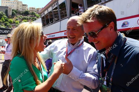 Geri Halliwell (GBR) Singer, left, and boyfriend Henry Beckwith (GBR), right, with Ron Dennis (GBR) McLaren Executive Chairman. Formula One World Championship, Rd 6,  Monaco Grand Prix, Race Day, Monte-Carlo, Monaco, Sunday 29 May 2011.