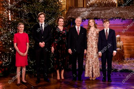 Editorial picture of Belgian Royals celebrate Christmas at the Royal Palace, Brussels, Belgium - 16 Dec 2020