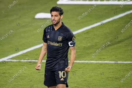 Carlos Vela of Los Angeles FC (USA) in action during their CONCACAF Champions League Semi Finals match against Club America (MEX) at the Orlando's Exploria Stadium
