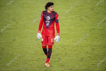 Guillermo Ochoa of Club America (MEX) in action during their CONCACAF Champions League Semi Finals match against Los Angeles FC (USA) at the Orlando's Exploria Stadium