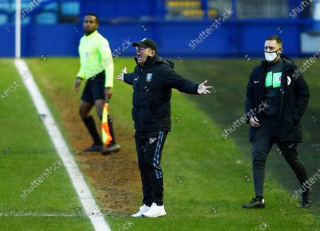 Sheffield Wednesday manager Tony Pulis reacts