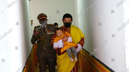 Bhutan King Jigme Khesar Namgyel Wangchuck with His Royal Highness the Gyalsey On National Day His Majesty The King of Bhutan Addressed the people from the Punakha Dzong, also known as the Punthang Dewaichenpoi Phodrang (Palace of Great Happiness).
