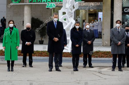 Inauguration of a memorial to health workers, Madrid