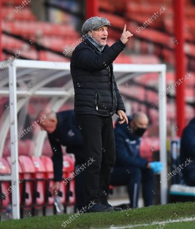 Stock Picture of Ian Holloway manager of Grimsby Town on the touchline
