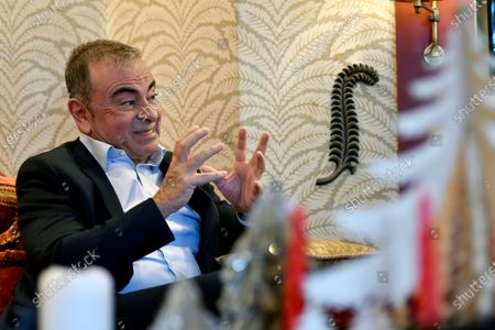 Lebanese-French businessman Carlos Ghosn speaks during an interview in Beirut, Lebanon, 16 December 2020 (issued 18 December 2020). Former Nissan chairman Carlos Ghosn on 29 December 2019 fled from Japan where he was on bail and under surveillance in Tokyo awaiting trial on financial misconduct charges.