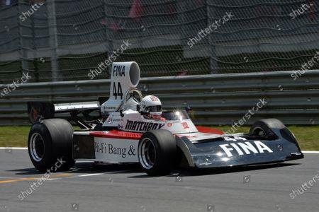 Dieter Quester (AUT) Surtees TS16 on the Legends Parade. Formula One World Championship, Rd8, Austrian Grand Prix, Race, Spielberg, Austria, Sunday 22 June 2014.