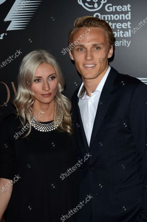 Max Chilton (GBR) Marussia F1 Team with his girlfriend Chloe Roberts (GBR). F1 Party in aid of Great Ormond Street Children's Charity, Victoria and Albert Museum, London, England, Wednesday 2 July 2014.
