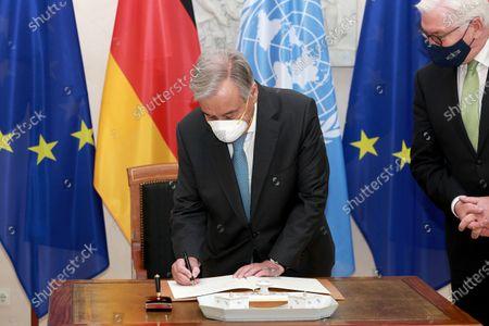 Secretary-General of the United Nations Antonio Guterres and Frank-Walter Steinmeier