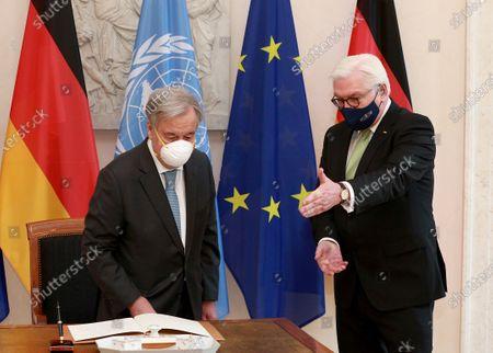Federal President Frank-Walter Steinmeier receives UN Secretary General Antonio Guterres